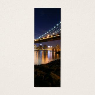 Manhattan Bridge at Night Mini Business Card