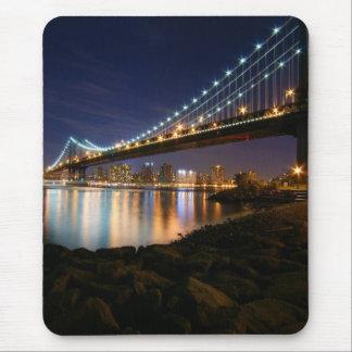 Manhattan Bridge at Night Mouse Pad
