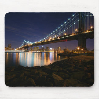 Manhattan Bridge at Night Mousepad