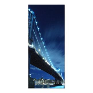 Manhattan Bridge At Night, New York City Card