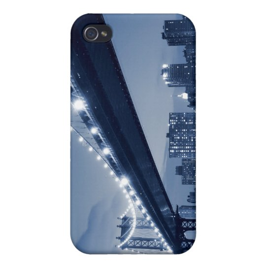 Manhattan Bridge At Night, New York City Case For iPhone 4