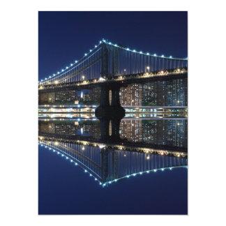 Manhattan Bridge At Night, New York City Announcements