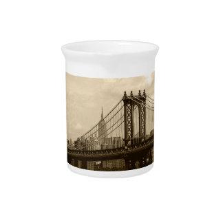 Manhattan Bridge Beverage Pitcher