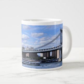 Manhattan Bridge, Empire State Building Large Coffee Mug