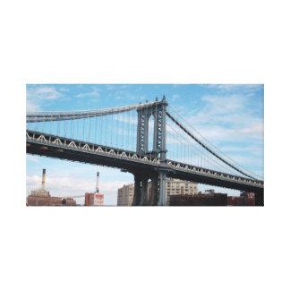 """Manhattan Bridge Photography"" by Michael Crozz Canvas Print"