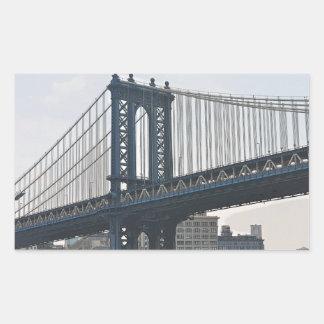 Manhattan Bridge Rectangular Sticker