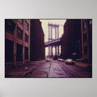Manhattan Bridge Tower in Brooklyn New York City Poster