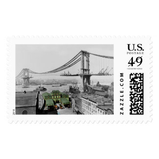 Manhattan Bridge Vintage Photo Postage Stamps