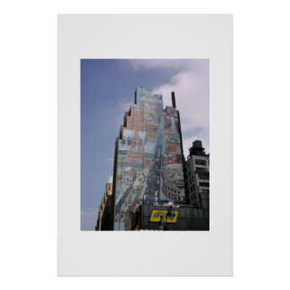 Manhattan Building NYC Poster