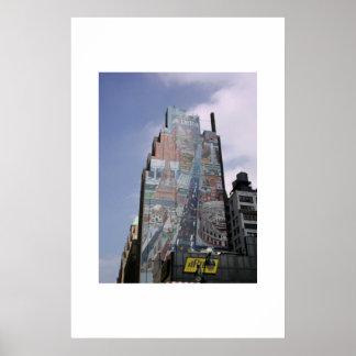 Manhattan Building NYC Poster