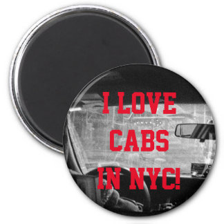 Manhattan Cab Ride Magnet