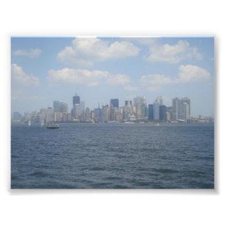 Manhattan céntrica del río Hudson Impresiones Fotograficas