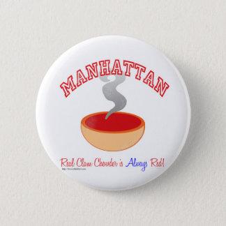 Manhattan Chowder War Pinback Button