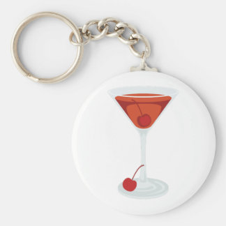 Manhattan Cocktail Keychain