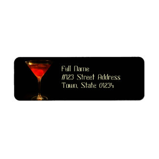 Manhattan Cocktail Mailing Labels