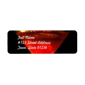 Manhattan Cocktail Mailing Labels