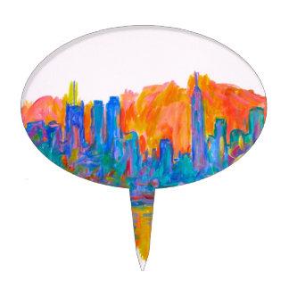 Manhattan Color Wave Cake Topper