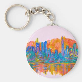 Manhattan Color Wave Keychain