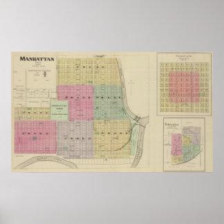 Manhattan, Coronado, Towanda, Kansas Póster