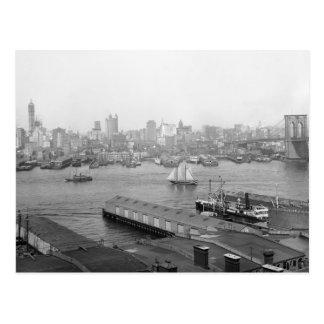 Manhattan de Brooklyn 1905 Tarjetas Postales