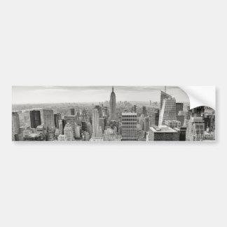 Manhattan desde arriba etiqueta de parachoque