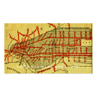 Manhattan Elevated Railway System (1900) Part I Double-Sided Standard Business Cards (Pack Of 100)