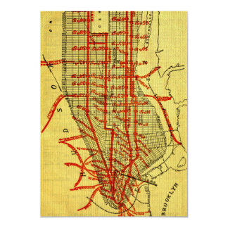 Manhattan Elevated Railway System (1900) Part I Card