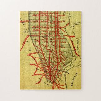 Manhattan Elevated Railway System (1900) Part I Jigsaw Puzzle