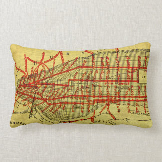 Manhattan Elevated Railway System (1900) Part I Lumbar Pillow