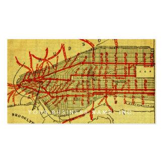 Manhattan elevó el sistema ferroviario (1900) Part Tarjetas De Visita