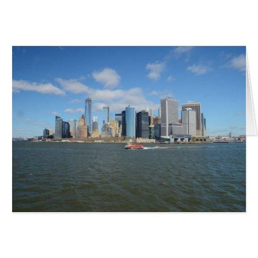 Manhattan en la distancia felicitación