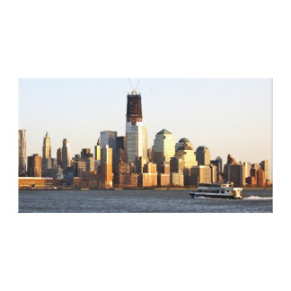 Manhattan Financial District Commute Gallery Wrapped Canvas