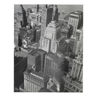Manhattan – Financial District Rooftops 1930's Panel Wall Art