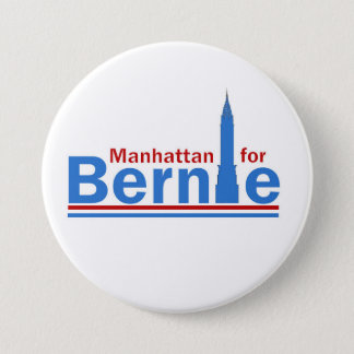 Manhattan for Bernie Button