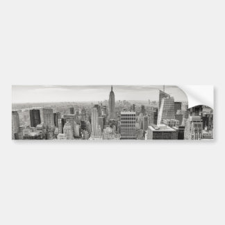 Manhattan from Above Car Bumper Sticker