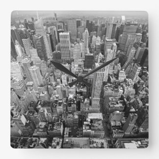 Manhattan from Above Square Wall Clock