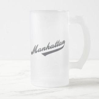 *Manhattan Frosted Glass Beer Mug