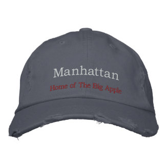 Manhattan, Home of The Big Apple Embroidered Baseball Cap