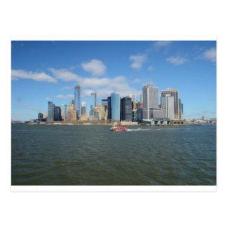 Manhattan in the distance. postcard