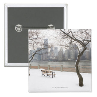 Manhattan in the Winter Pinback Button