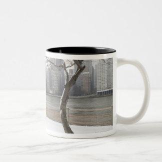 Manhattan in the Winter Two-Tone Coffee Mug