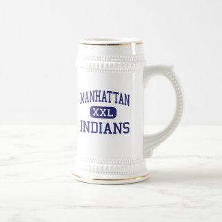 Manhattan - indios - alta - Manhattan Kansas Tazas De Café