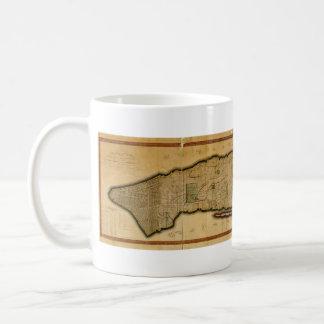 Manhattan Island New York City Map from 1807 Coffee Mug
