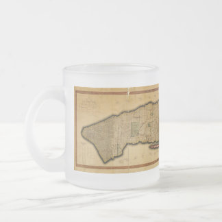 Manhattan Island New York City Map from 1807 10 Oz Frosted Glass Coffee Mug