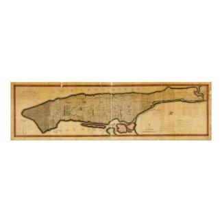 Manhattan Island New York City Map from 1807 Photo