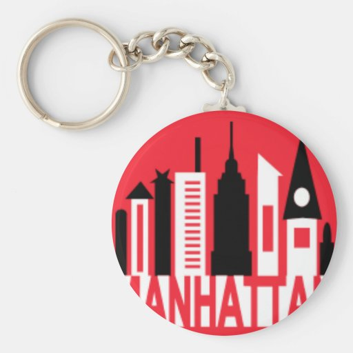 Manhattan Llavero Redondo Tipo Pin