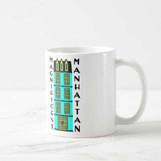 Manhattan magnífica con la casa urbana de lujo de  taza básica blanca
