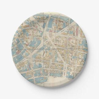 Manhattan Map Paper Plate