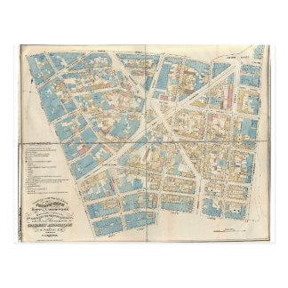 Manhattan Map Postcard