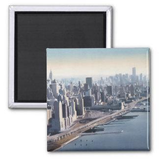 """""""Manhattan Memories"""" New York Watercolor Art Magnet"""